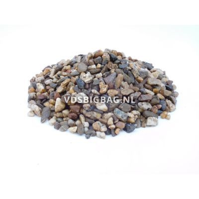 Tuingrind wit/bruin/zwart 8-16 mm, losgestort per m³