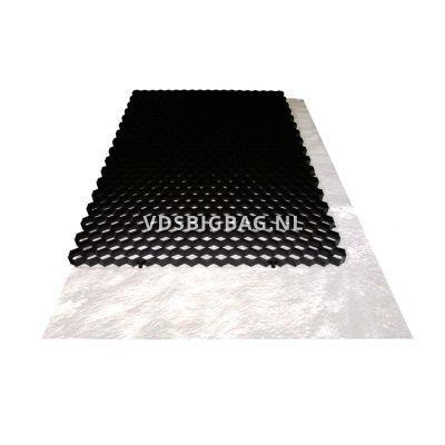 Splitplaat incl. doek (lxbxh) 120x80x3 cm, ± 0,96 m², zwart