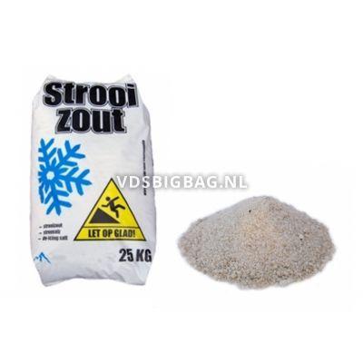 Strooizout, zak 25 kg