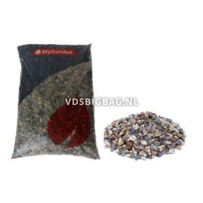 Tuingrind wit/brons 8-16 mm, zak 25 kg