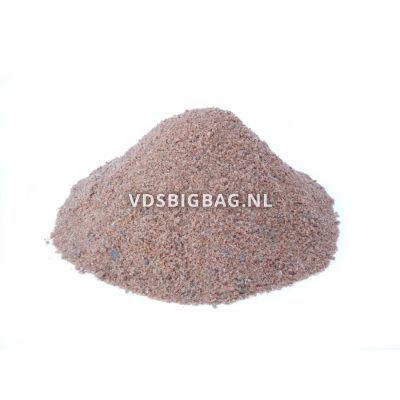Brekerzand / inveegzand rood/grijs, big bag 1 m³