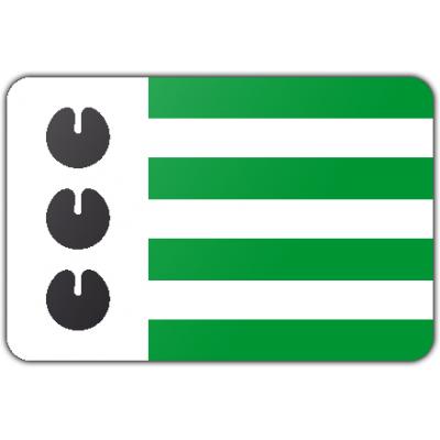 Gemeente Bloemendaal vlag (70x100cm)