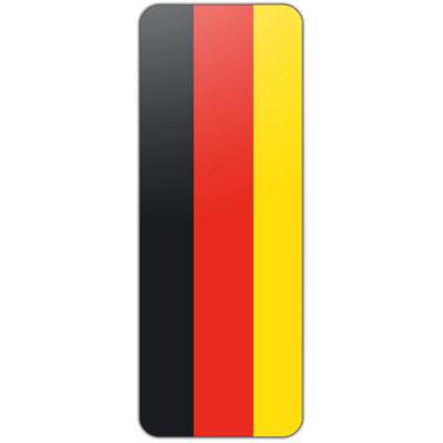 Internationale banier Duitsland (300x120cm)