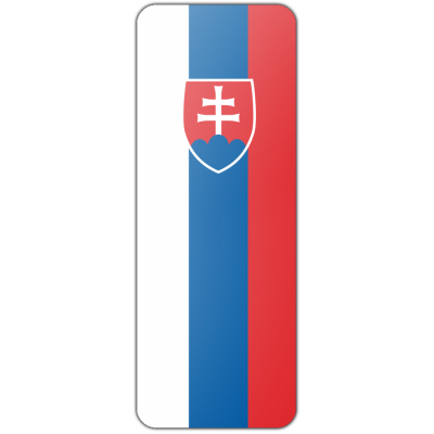 Internationale banier Slowakije (300x100cm)