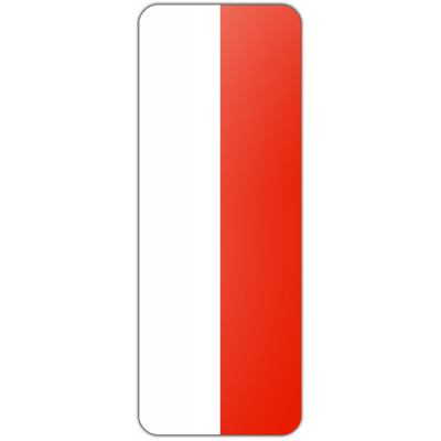 Internationale banier Polen (300x120cm)
