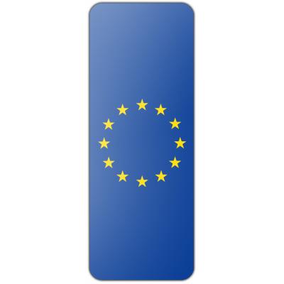 Internationale banier Europese Unie (300x100cm)