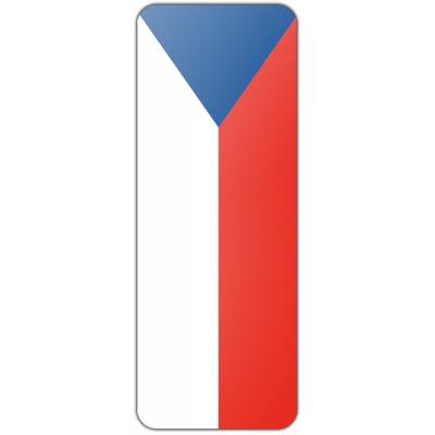 Internationale banier Tsjechië (300x100cm)