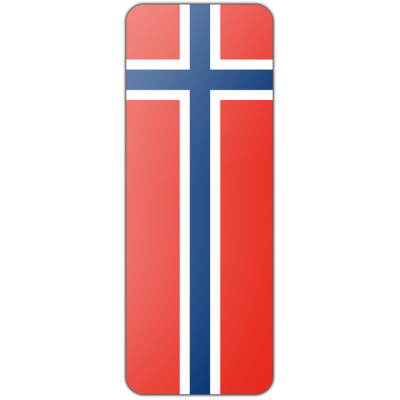 Internationale banier Noorwegen (300x120cm)