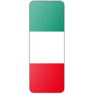 Internationale banier Italië (300x120cm)