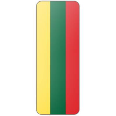 Internationale banier Litouwen (300x100cm)