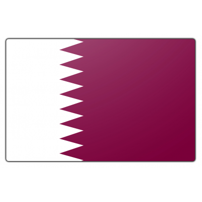 Qatar vlag (150x225cm)