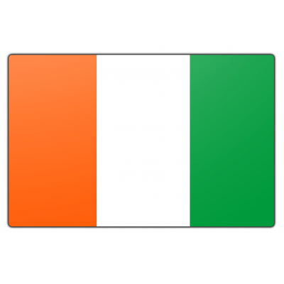 Ivoorkust vlag (70x100cm)