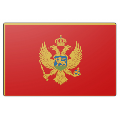 Montenegro vlag (200x300cm)