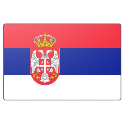 Servië vlag (70x100cm)