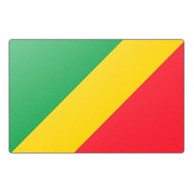 Tafelvlag Congo-Brazzaville zonder mastje (10x15cm)