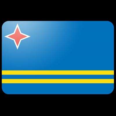 Tafelvlag Aruba zonder mastje (10x15cm)