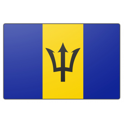 Barbados vlag (70x100cm)