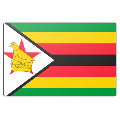Zimbabwe vlag (150x225cm)