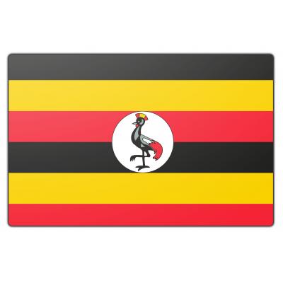 Oeganda vlag (150x225cm)