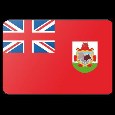Tafelvlag Bermuda zonder mastje (10x15cm)
