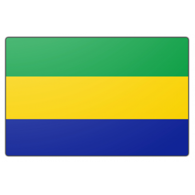 Gabon vlag (150x225cm)
