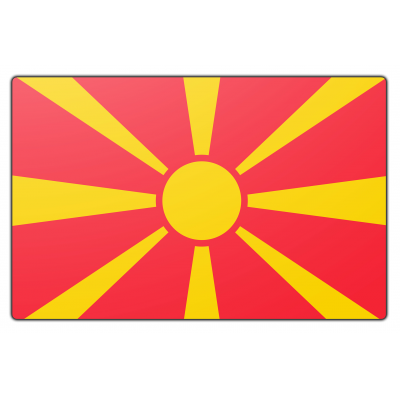 Macedonië vlag (70x100cm)