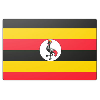 Oeganda vlag (70x100cm)