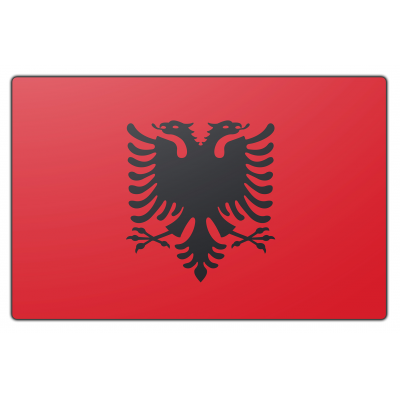 Albanië vlag (150x225cm)