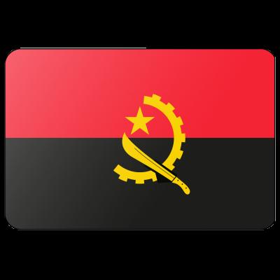 Tafelvlag Angola zonder mastje (10x15cm)