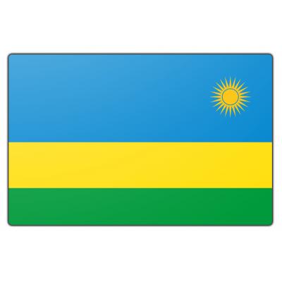 Rwanda vlag (200x300cm)