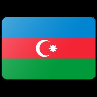 Tafelvlag Azerbeidjzan zonder mastje (10x15cm)