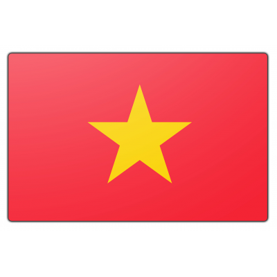 Vietnam vlag (200x300cm)