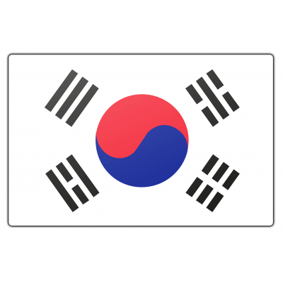 Zuid-Korea vlag (100x150cm)