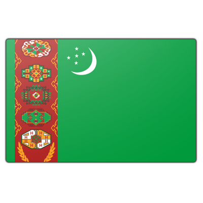 Turkmenistan vlag (70x100cm)