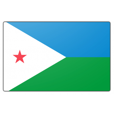 Djibouti vlag (70x100cm)