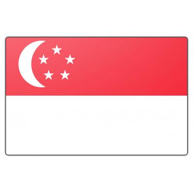 Singapore vlag (200x300cm)