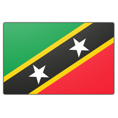 St. Kitts en Nevis vlag (200x300cm)