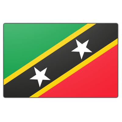 St. Kitts en Nevis vlag (70x100cm)