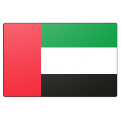 Verenigde Arabische Emiraten vlag (70x100cm)