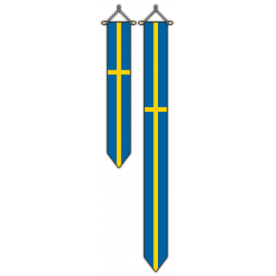 Zweden wimpel (30x175cm)