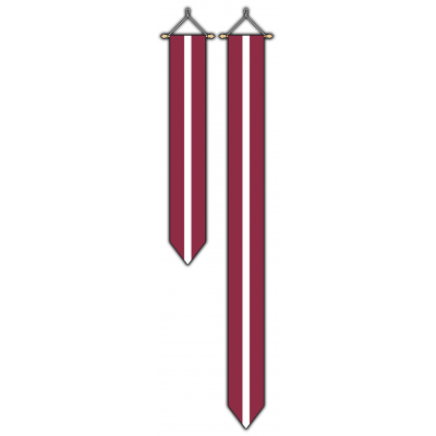 Letland wimpel (30x300cm)
