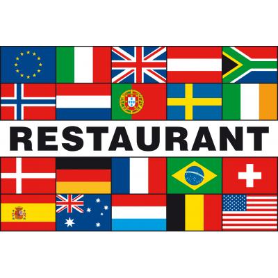 Meerlandenvlag restaurant(100x150cm)