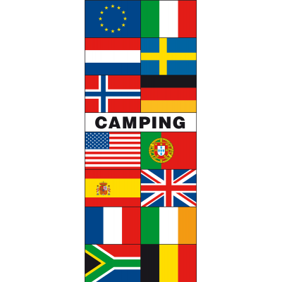 Meerlandenbanier camping(300x120cm)