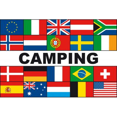Meerlandenvlag camping(200x300cm)