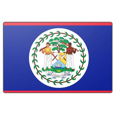 Tafelvlag Belize zonder mastje (10x15cm)