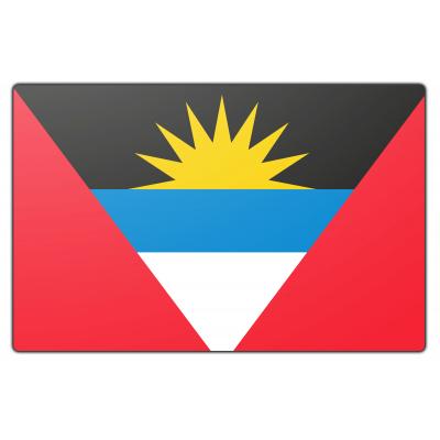 Tafelvlag Antigua en Barbuda zonder mastje (10x15cm)