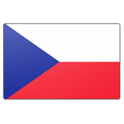 Tafelvlag Tsjechië zonder mastje (10x15cm)