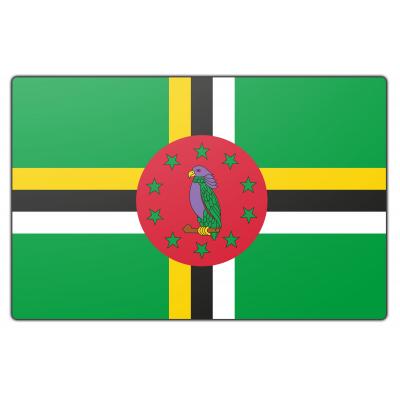 Tafelvlag Dominica zonder mastje (10x15cm)