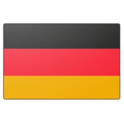 Tafelvlag Duitsland zonder mastje (10x15cm)