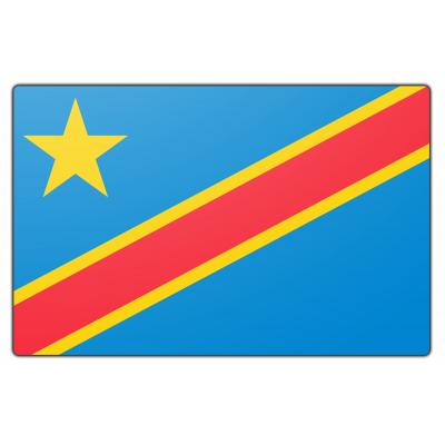 Tafelvlag Congo-Kinshasa zonder mastje (10x15cm)